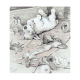 Mischievous Puppy Giclee Print by Cecil Charles Windsor Aldin