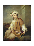 The Flower Girl, C.1670 Giclee Print by Bartolome Esteban Murillo