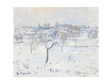 Snowy Landscape at Eragny with an Apple Tree, 1895 Giclee Print by Camille Pissarro