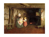 Expectation: Interior of a Cottage with a Mother and Children, 1854 Giclee Print by Frederick Daniel Hardy