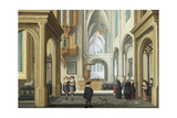Elegant Figures in Church, 1629 Giclee Print by Dirck Van Delen