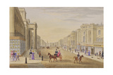 Regent Street, Looking North from Hanover Street, C.1830 Giclee Print by George Sidney Shepherd