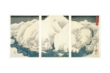 Snow Storm in the Mountains and Rivers of Kiso Giclee Print by Ando Hiroshige