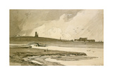 Blakeney Church and Wiveton Hall, 1818 Giclee Print by John Sell Cotman