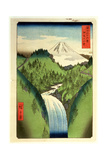 Fuji from the Mountains of Isu, No.22 from the Series '36 Views of Mt.Fuji' ('Fuji Saryu Rokkei') Giclee Print by Ando Hiroshige