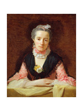 An Unknown Woman in a Pink Dress Giclee Print by Allan Ramsay