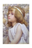 Girl with Apple Blossom, 1893 Giclee Print by Henry Ryland