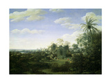 A Brazilian Landscape with a Procession Emerging from the Ruined Cathedral of the See of Olinda,… Giclee Print by Frans Jansz Post
