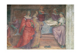 Bed Scene, from the Birth of the Virgin (Detail) Giclee Print by Andrea del Sarto