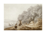 View in Queen Charlotte's Sound, New Zealand, from 'Views in the South Seas', Pub. 1790 Giclee Print by John Webber