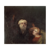 Prospero and Miranda, Fragment from 'The Tempest', C.1790 Giclee Print by George Romney