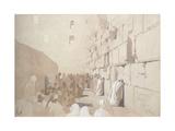 'Am Klageplatz Der Juden', Wailing Wall at Jerusalem, 1869 Giclee Print by Carl Haag
