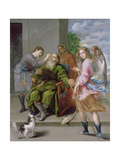 Tobias Restoring His Father's Sight, 1652 Giclee Print by Antonio Pereda y Salgado