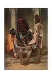 Gosiens or Fakirs at Ahmedabad, 1858 Giclee Print by General E.W. Wray
