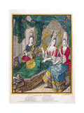 Women Chatting or the New Mother, Late 17th Century Lámina giclée por Nicolas Arnoult