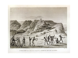 Shark Bay, Peron Peninsula, New Holland: Meeting with the Natives, from 'Voyage Autour Du Monde… Giclee Print by Jacques Etienne Victor Arago