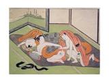 Lovers in an Interior, C.1770 Giclee Print by Suzuki Harunobu