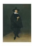 Portrait of Burgermeister Jan Roever (1610-61) Giclee Print by Gerard Terborch