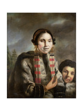 Portrait of Micoc and Her Son Tootac, C.1769 Giclee Print by John Russell