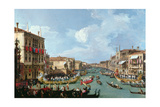 Canaletto - Regatta on the Grand Canal - Giclee Baskı
