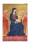 Madonna med barnet Giclée-tryk af Pietro Lorenzetti