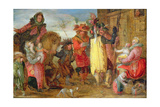 Jeanne De Flandres (1472-1545/9) Going to Deliver Prisoners Giclee Print by David Vinckboons