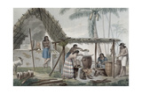 View of a Distillery on the Island of Guam, from 'Voyage Autour Du Monde Sur Les Corvettes De… Giclee Print by Alphonse Pellion