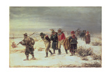 In the Year 1812 (The Retreat from Moscow) 1873 Giclee Print by Illarion Mikhailovich Pryanishnikov