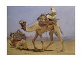 Camel Preparing to Lie Down, 1858 Giclee Print by Carl Haag