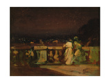 Watching Fireworks at St. Cloud Giclee Print by Louis Charles Auguste Couder