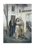 Nathan Greeted by Rachel, 1876 Giclee Print by Maurycy Gottlieb