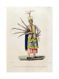 Island of Guam: Principal Character from the Dances of Montezuma, from 'Voyage Autour Du Monde… Giclee Print by Jacques Etienne Victor Arago