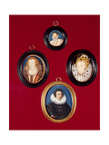 Collection of Miniatures: Francis Drake, Elizabeth I Giclee Print by Nicholas Hilliard