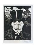 Portrait of Romain Coolus (1865-1952) Giclee Print by Félix Vallotton