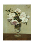 Pink Roses, 1875 Giclee Print by Ignace Henri Jean Fantin-Latour