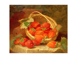 A Basket of Strawberries on a Stone Ledge, 1888 Giclee Print by Eloise Harriet Stannard
