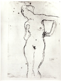 Nude Photographic Print by Gustav Klimt