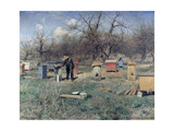 A Spring Day, or Beehives, 1899 Giclee Print by Sergei Ivanovich Svetoslavsky