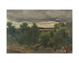 Au Petit Chaville Giclee Print by Jean-Baptiste-Camille Corot