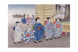 O-Bon Festival from the Series 'Children's Games', 1888 Giclee Print by Kobayashi Eitaku