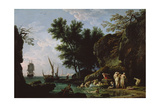 Nymphs Bathing in the Morning Giclee Print by Claude Joseph Vernet