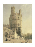 Caernarfon Castle, C.1842-52 Giclee Print by William Evans