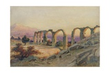 The Aqueduct of Salona, Dalmatia, 1854 Giclee Print by Carl Haag