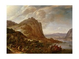 Mountainous Rhineland Landscape, 1660 Giclee Print by Herman the Younger Saftleven