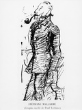 Sketch of Stephane Mallarme, 19th Century Fotodruck von Paul Verlaine