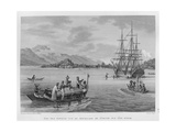 The Papous Islands: View of the 'Uranie' Moored by the Island of Rawak, from 'Voyage Autour Du… Giclee Print by Alphonse Pellion
