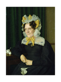 Portrait of an Old Woman, 1829 Giclee Print by Julius Oldach