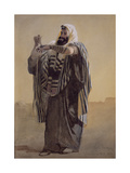 A Jerusalemite Shepherd Winding the Phylacteries for the Hand, 1895 Giclee Print by Carl Haag