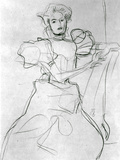 Seated Woman - Study for a Portrait of Sonja Knips, C.1898 Photographic Print by Gustav Klimt