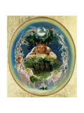 Faun and the Fairies, C.1834 Giclee Print by Daniel Maclise